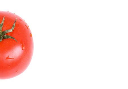 closedup: Tomato isolated on white, closed-up Stock Photo