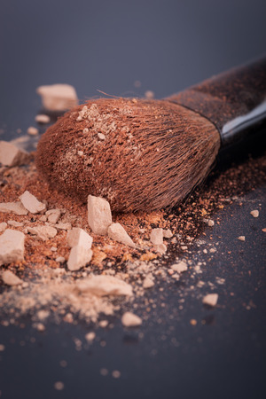 crumbled: Face foundation powder product with crumbled texture