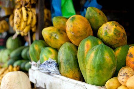 Fresh papaya at asian market