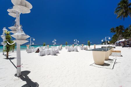 Wedding decoration on tropical beach