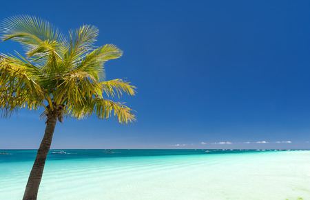 boracay: Island Boracay, Philippines. Boat Station One, White beach place