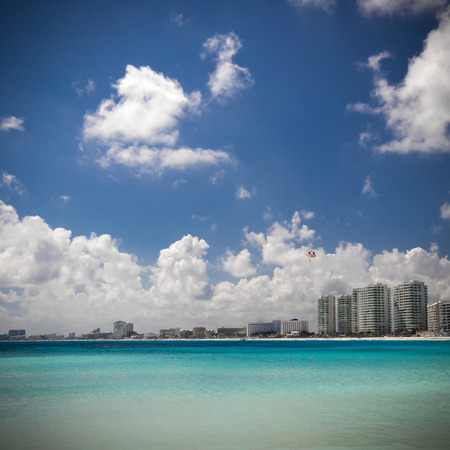 Caribbean beach view, Cancun, Mexico