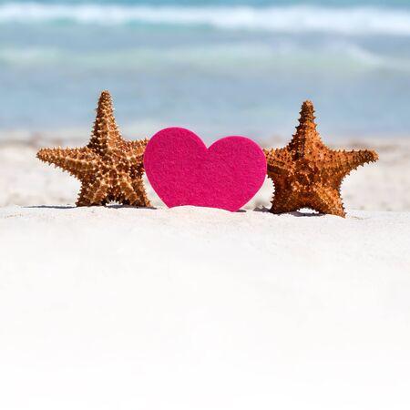 luna de miel: Luna de miel en la playa del caribe, viajar concepto