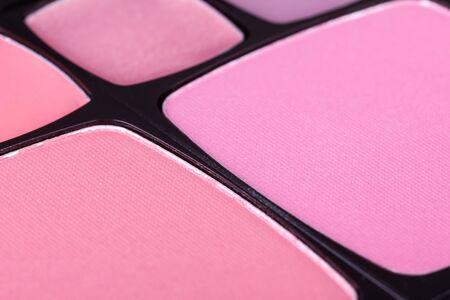 blush: Make-up blush palette, closeup Stock Photo