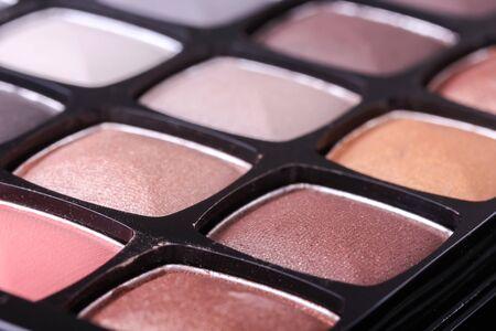 neutral: Neutral eyeshadows palette, closeup