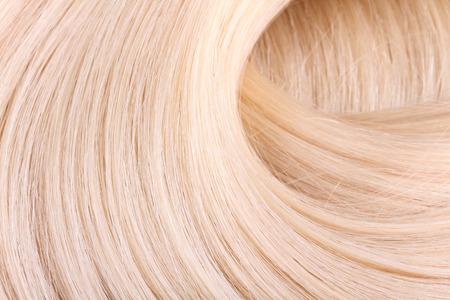 Blond hair extension, macro
