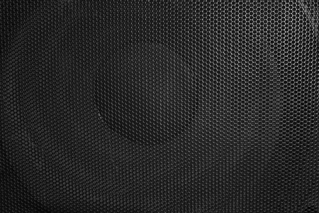 Loudspeaker background. Closeup shot