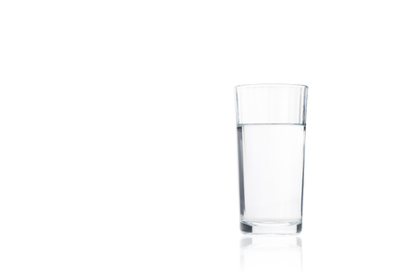 antacid: Pure drink water in glass, closeup on white background