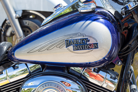 harley davidson: Cancun, Mexico - 27 October 2015: Harley  davidson moto closeup Editorial