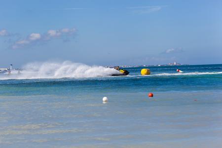 carrera: CANCUN, MEXICO - NOVEMBER 1, 2015: Marina Chac-Chi, 1st Carrera Nacional Jet Surf 2015, Grand Premium Jetsurf Mexico, Cancun