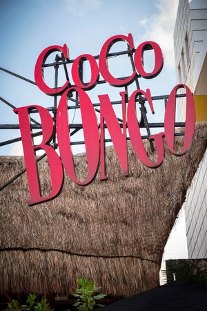 bongo: CANCUN, MEXICO - 29 October  2015: Coco Bongo Club entrance at Zona Hotelera Editorial
