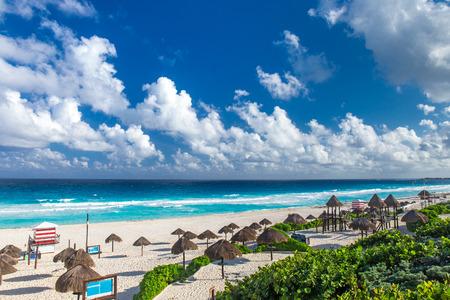 playa: Beautiful beach in Cancun, Mexico - Playa Delfines Stock Photo