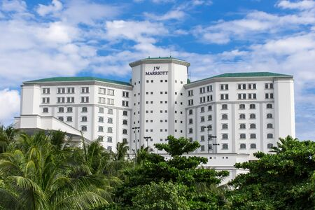 Cancun, Mexico - 12 January 2015: JW Marriott Cancun Resort and Spa building