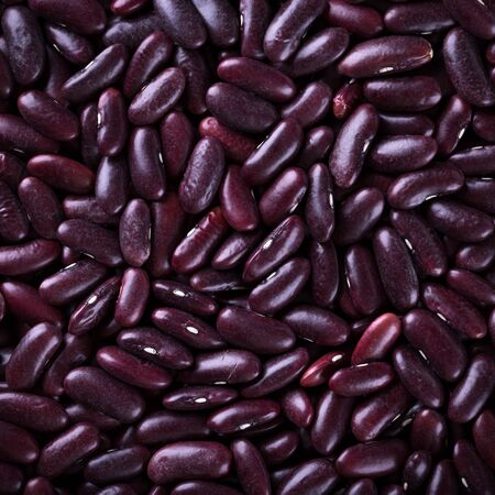 Raw red beans background. Vegan healthy nutrition Stock Photo