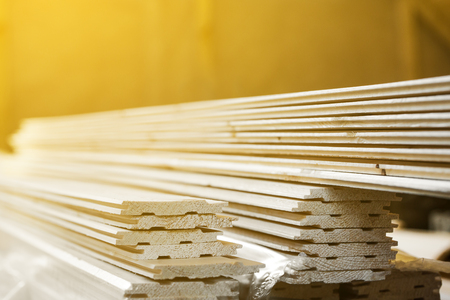 Wooden slot and key boards, closeup Standard-Bild