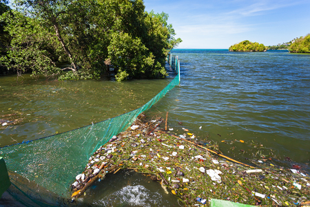 Garbage in the sea. Global pollution problem