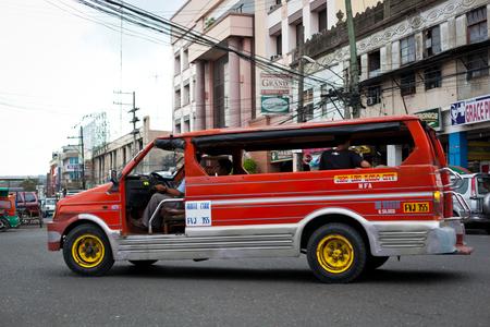 Ilo Ilo city, Philippines - 30 May 2013: Filipino taxi at street Stock Photo - 102603661