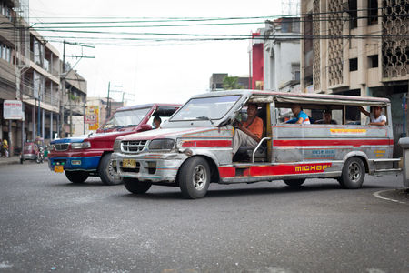Ilo Ilo city, Philippines - 30 May 2013: Filipino taxi at street