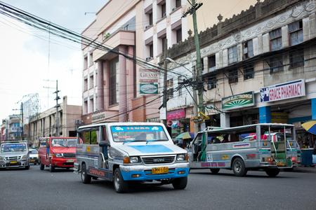 Ilo Ilo city, Philippines - 30 May 2013: Filipino taxi at the street Editorial