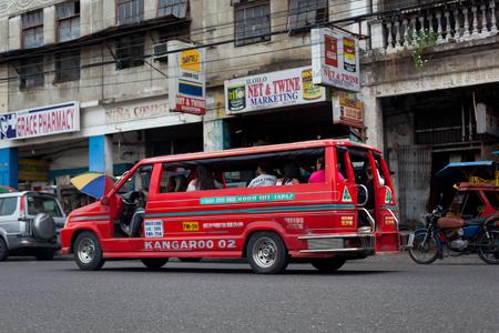 Ilo Ilo city, Philippines - 30 May 2013: Filipino taxi at the street Stock Photo - 102603716