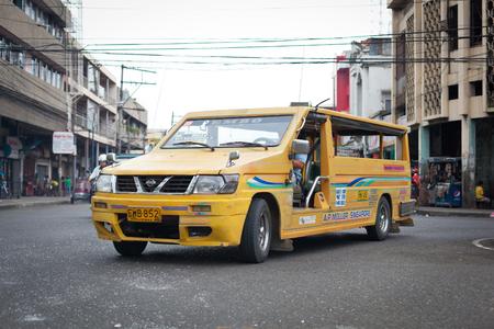 Ilo Ilo city, Philippines - 30 May 2013: Filipino taxi at street