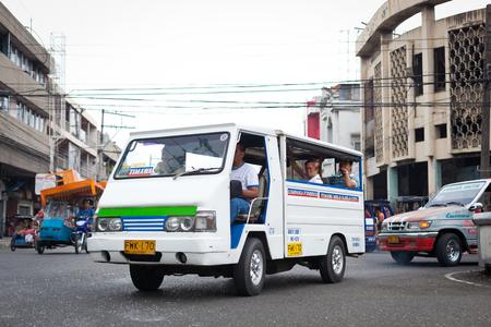 Ilo Ilo city, Philippines - 30 May 2013: Filipino taxi at the street Stock Photo - 102603724