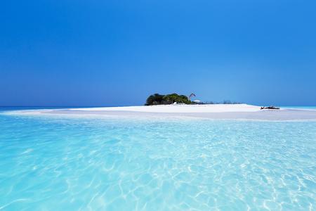 Beautiful Maldives nature, pristine white sandy beach and crystal sea water, tropical travel destination