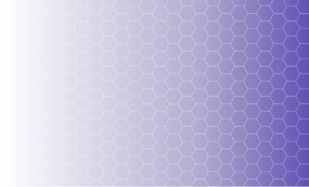 Abstract background design. Illustration of honeycomb shapes on ultraviolet gradient  Stock Photo