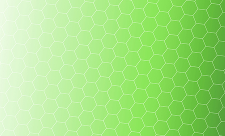 Abstract background design. Illustration of honeycomb shapes on green gradient