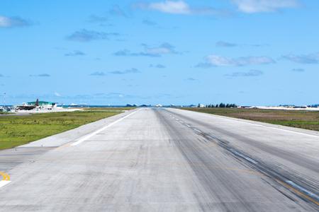 Asphalt airport airstrip, nobody Фото со стока - 101209510