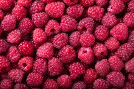 Ripe raspberry background. Closeup berries. Healthy organic food