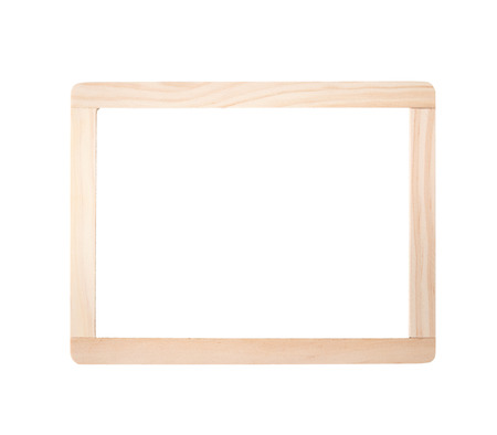 Wooden frame isolated on white background Stock Photo