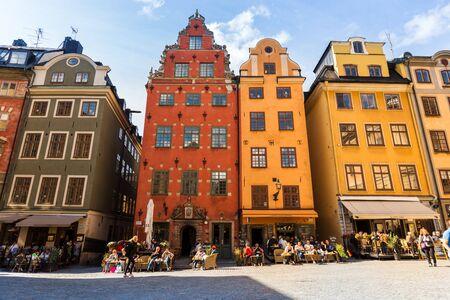 STOCKHOLM, SWEDEN - 4 SEPTEMBER 2017: Stortorget square in Old Town (Gamla Stan) in Stockholm Editorial