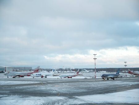 Moscow, Russia - 28 November 2018: International Airport Vnukovo outside. It is one of the four major airports that serve Moscow