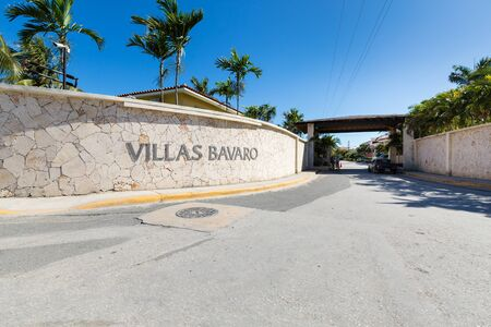 BAVARO, PUNTA CANA, DOMINICAN REPUBLIC - 19 JANUARY 2019: Villas Bavaro. Typical caribbean residence