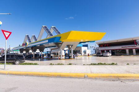 BAVARO, PUNTA CANA, DOMINICAN REPUBLIC - 19 JANUARY 2019: Sunix Petroleum gasoline station Editorial