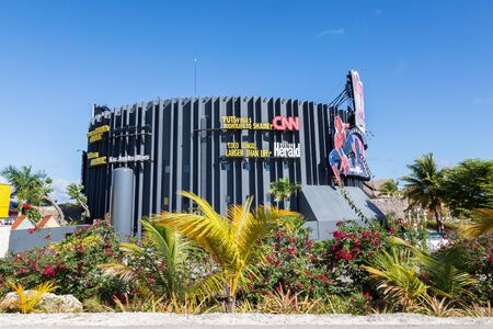 BAVARO, PUNTA CANA, DOMINICAN REPUBLIC - 19 JANUARY 2019: Coco Bongo nightclub building. It is a very famous club