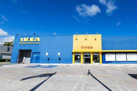 BAVARO, PUNTA CANA, DOMINICAN REPUBLIC - 19 JANUARY 2019: Ikea showroom building exterior at Sanjuan plaza