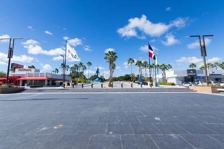 BAVARO, PUNTA CANA, DOMINICAN REPUBLIC - 19 JANUARY 2019: Sanjuan shopping center plaza