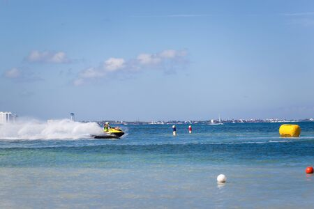 CANCUN, MEXICO - NOVEMBER 1, 2015: Marina Chac-Chi, 1st Carrera Nacional Jet Surf 2015, Grand Premium Jetsurf Mexico, Cancun