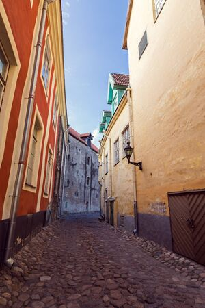 Tallinn, Estonia, streets and houses at old Town, no people