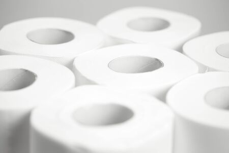 A lot of Toilet paper. Closeup. Nobody