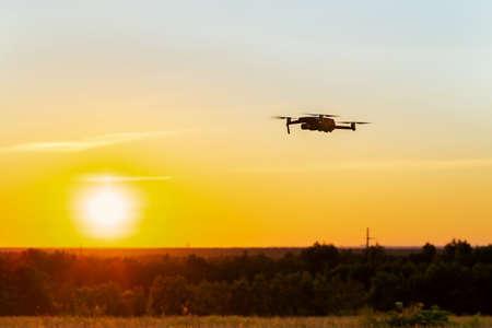 Drone flying on sky background Reklamní fotografie - 153700539