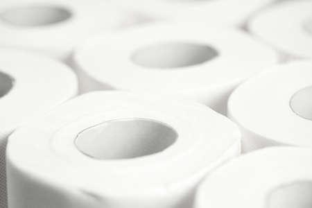 Toilet paper background. Closeup. Nobody Reklamní fotografie - 153664254
