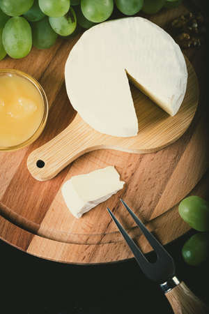Different types of cheese on backround. Top view Reklamní fotografie - 153664361