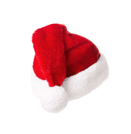 Santa Claus hat isolated on white background. Christmas and new year celebration 스톡 콘텐츠
