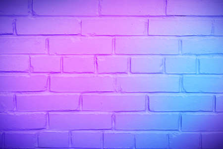 Neon brick wall background concept, color background 스톡 콘텐츠