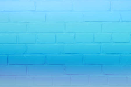 Neon brick wall background concept, blue color background