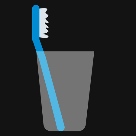 bristles: toothbrush in a glass