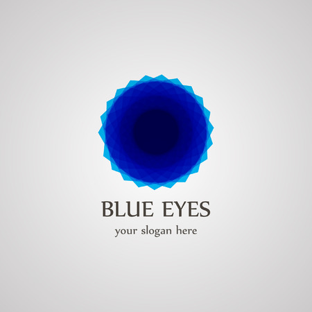 ojo azul: logotipo azul de los ojos Vectores